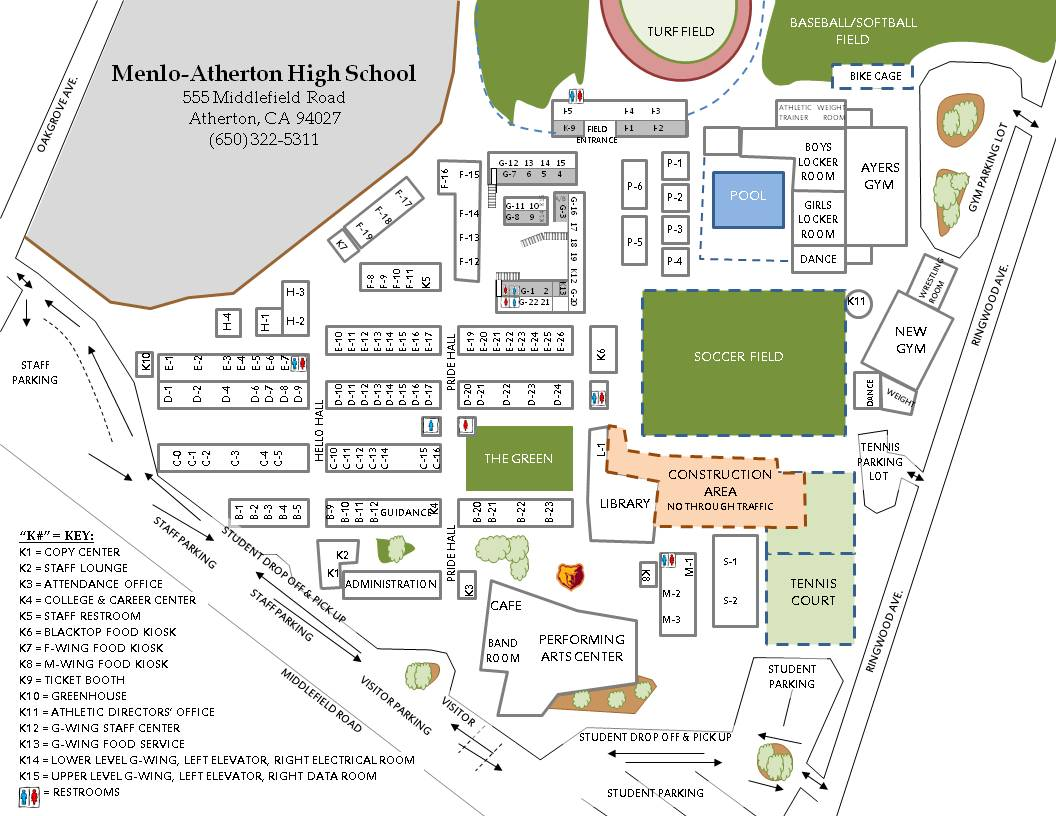 Directions Campus Map on Sequoia Floor Plan